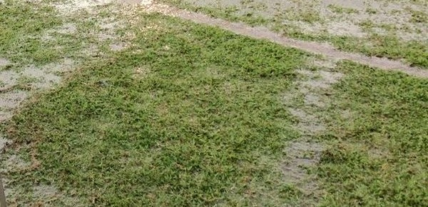 cancha inundada