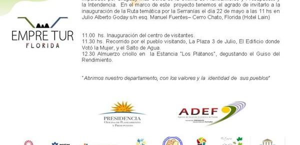 Invitacion inauguracion centro de visitantes