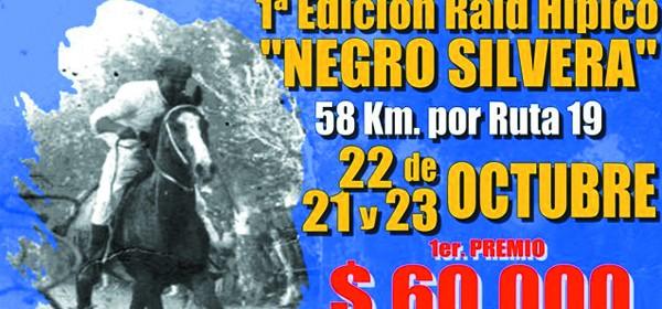 afiche primera edicion del raid negro silvera