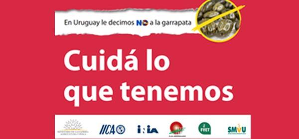 afiche en uruguay le decimos no a la garrapata